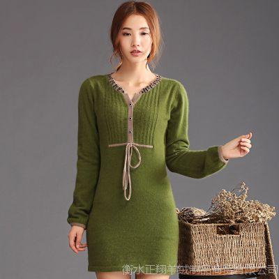 【新品快订】爆款中长款貂绒衫女式新款毛衣  修身打底针织衫