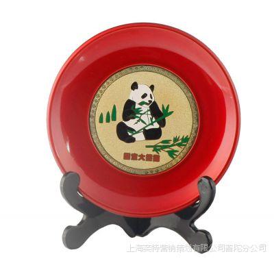 定制传统漆器工艺摆件漆盘 圆盘赏盘奖盘