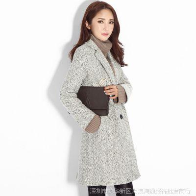 2014冬装纯色外套风衣 韩国东大门代购女装 一件代发 网店代理