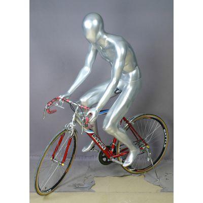 供应男自行车模特道具 男款自行车玻璃钢模型