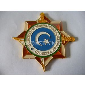 供应西安珐琅徽章、景泰蓝胸章、真珐琅胸针