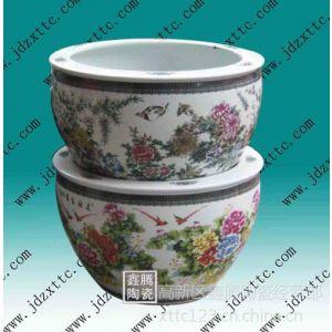 供应粉彩陶瓷鱼缸,鑫腾陶瓷鱼缸