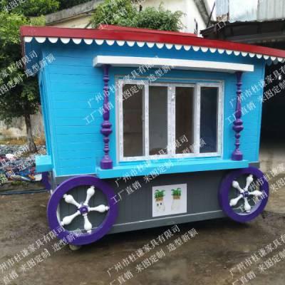 供应龙马潭公园木制售货车 泸县楼盘户外售货车