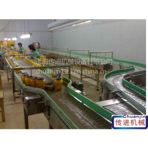 供应供应罐头生产输送机、厂家直销链板输送机、252.4mm宽链板