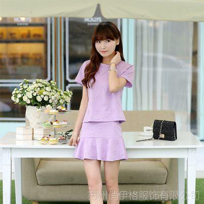 2014夏季新款女式休闲套装 小香风气质职业套装 女装厂家直销3151