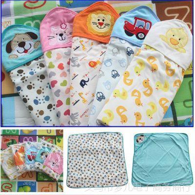 美酷婴童 婴儿抱被毯 婴儿包被婴儿睡袋婴儿毯 高档双层纯棉10038