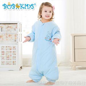 供应加厚鲍勃骑士秋冬款竹浆纤维分腿睡袋 婴儿睡袋儿童防踢被 可把尿