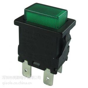供应台湾带锁按钮开关带绿灯