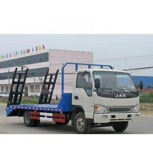 供应江淮小挖机运输车 小型挖掘机平板运输车 挖机平板拖车价格