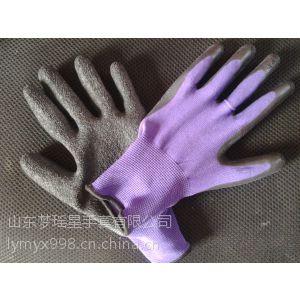 供应浸胶纱线手套高质量挂胶手套山东梦瑶星手套有限公司