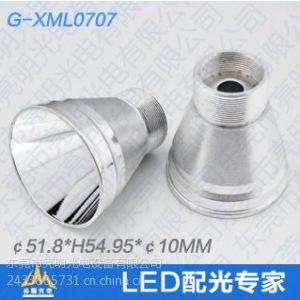 供应亮明光电XML0707光面T5 T6手电筒聚光杯研发