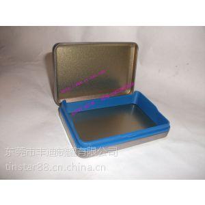 供应马口铁带塑胶盖式小铁盒