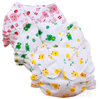 印花 布尿裤 尿布兜 隔尿裤 透气防漏 初生儿隔尿用品 3色现货