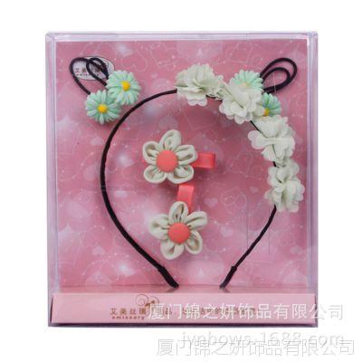 艾美丝瑞精致头饰发饰五件套AM005-H糖果色小花朵发夹