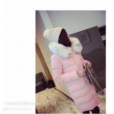 棉衣外套冬季女式羽绒棉山东菏泽工厂中长款棉衣批发修身毛呢大衣秋冬外套