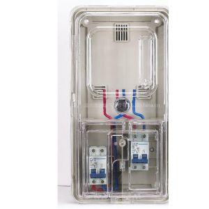供应HR系列透明塑料电表箱 单相一位预付费式电表箱