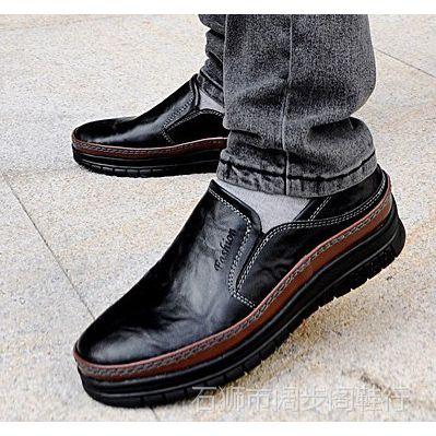 2014春季新款商务休闲男式皮鞋 韩版板鞋英伦男鞋真皮鞋潮流单鞋