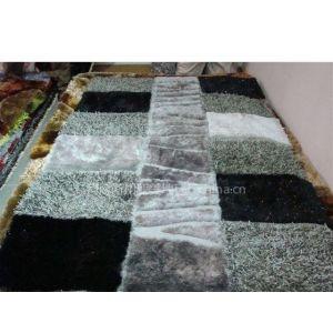 中国结 丝地毯.韩国冰丝地毯,颜色鲜艳,丝质顺滑,时代感超强