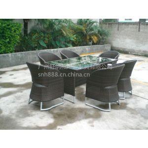 供应重庆编藤餐桌椅 园林户外桌椅 咖啡厅桌椅