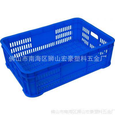 塑料筐批发宏豪塑料五金厂 20号 100%全新PE料 塑料周转筐箩