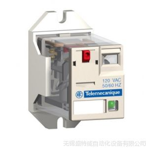供应施耐德小型中间继电器 RXM2AB2BD  2对触点转换 带指示灯和测试按