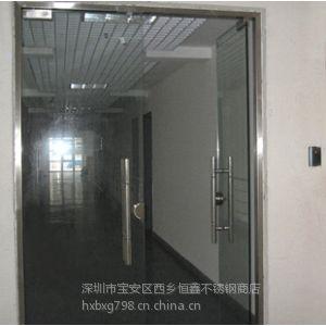 供应深圳恒鑫专业制作各种地弹簧玻璃门 铝合金玻璃门 玻璃感应门
