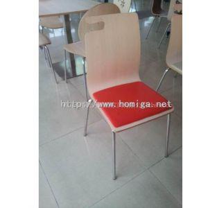 供应带皮垫弯曲木餐椅,带皮垫餐椅加工生产,广东带皮垫弯曲木餐厅家具工厂专业定制