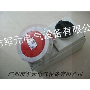 供应PCE带开关连锁电源工业插座
