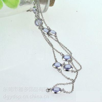 批发混批奥地利钻石女士多层长款项链毛衣链 紫水晶项饰 清仓处理