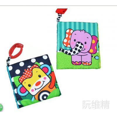 美国原单多功能马戏团动物响纸布书 外贸婴儿玩具一件代发