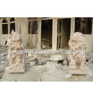 供应河北动物雕塑 石雕狮子报价