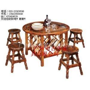 供应实木餐桌,碳化木桌子,休闲桌椅