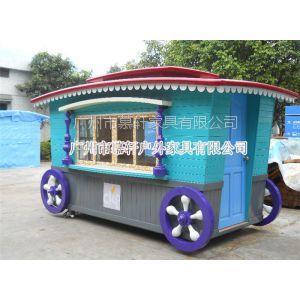 供应游乐园移动售卖车 公园必不可少的美食售货车 广州木制售货车