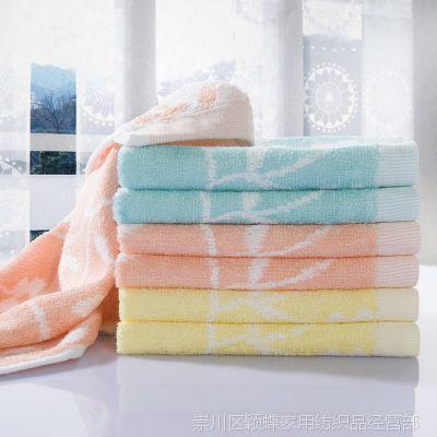 2014新款纯棉方巾 棉方巾柔软太阳花方巾 亲肤健康吸水方巾批发