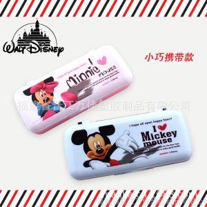 供应正版迪士尼创意文具盒 双层文具盒 铅笔盒 笔袋 韩国笔盒文具盒