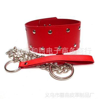 成人情趣用品 另类玩具 带锁皮革颈圈项圈