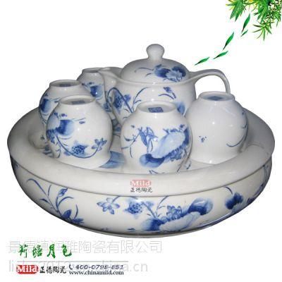 景德镇陶瓷茶具生产厂家 定做青花瓷茶具