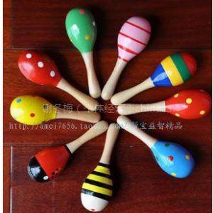 供应金宝贝玩具同款 奥尔夫沙锤 儿童乐器敲打沙锤
