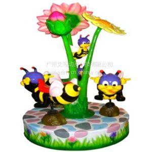 供应儿童转马  蜜蜂乐园 卡通 3座小蜜蜂 3人豪华转马