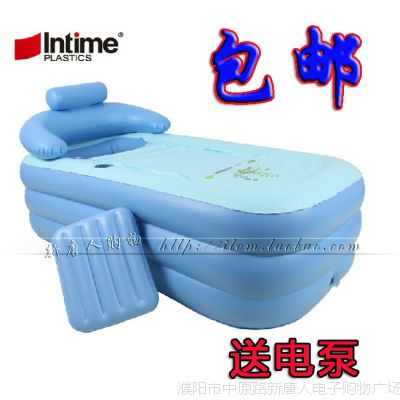 正品盈泰 充气浴缸 加大加厚 成人保暖充气浴盆折叠浴缸洗澡桶