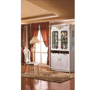 厂家供应3012#欧式新古典白色亮光酒柜