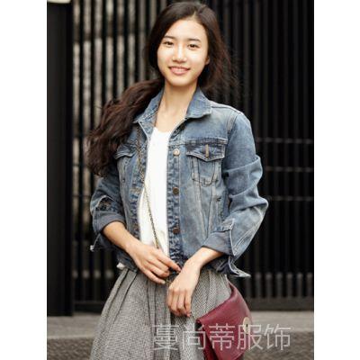 韩国代购 韩版修身短装牛仔衣 牛仔女外套 厂家批发