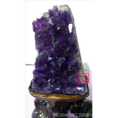 天然乌拉圭紫水晶原石 紫晶洞 紫晶簇块批发高档礼品家具用品
