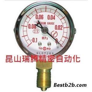 供应东洋计器TOKO真空计AT-1/4G-50∮×-0.1MPA