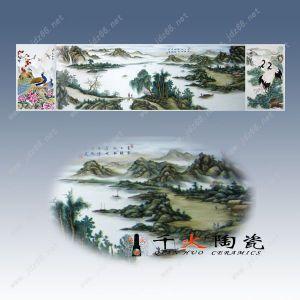 陶瓷瓷板画 瓷砖 手绘大型瓷板画
