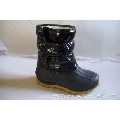 冬季新品 儿童雪地靴 时尚糖果色平底保暖雪地棉靴 中筒棉鞋女童