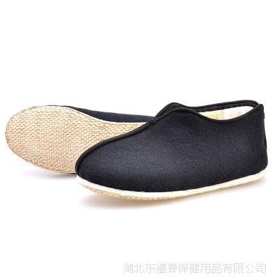 正宗老北京品牌男秋冬加厚保暖中老年棉靴纯手工千层底防滑布靴子