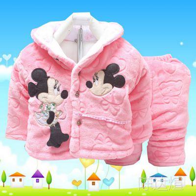 韩版童装免费代理加盟 秋冬装儿童套装 女童婴幼儿 冬季棉衣外套