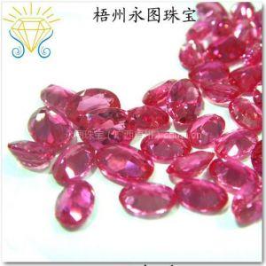 供应永图珠宝专业生产优质3号红刚玉 人造红宝石