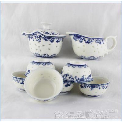 供应茶具 8头玲珑手抓壶茶具 创意功夫茶具套装新品